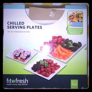 Chilled serving plate